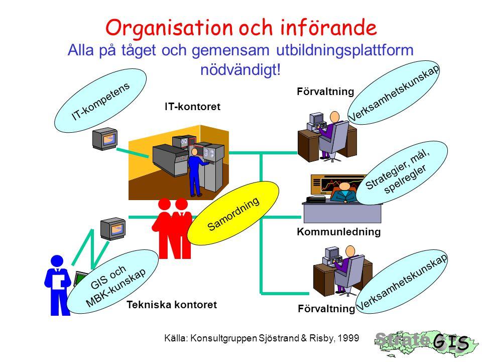 Organisation och införande Alla på tåget och gemensam utbildningsplattform nödvändigt.