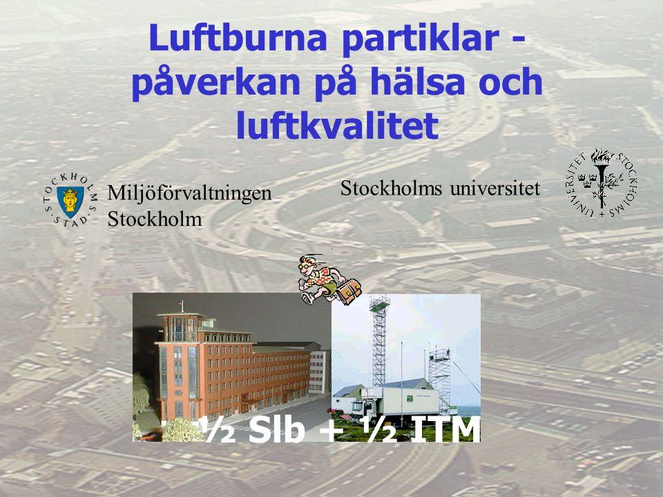 Miljöförvaltningen Stockholm Stockholms universitet Luftburna partiklar - påverkan på hälsa och luftkvalitet ½ Slb + ½ ITM