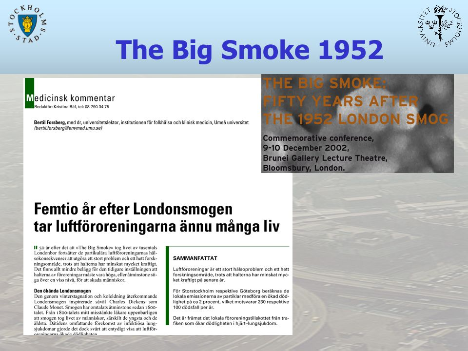 The Big Smoke 1952