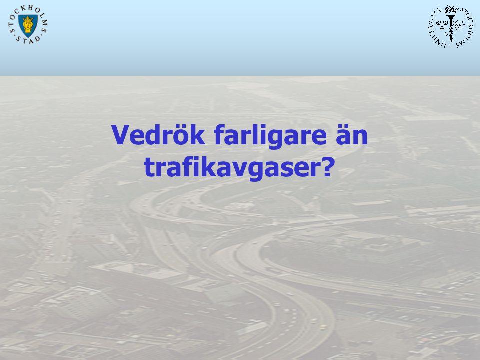 Vedrök farligare än trafikavgaser