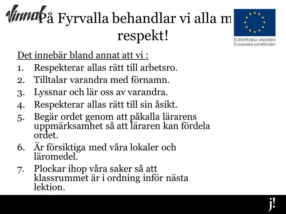 På Fyrvalla behandlar vi alla med respekt.