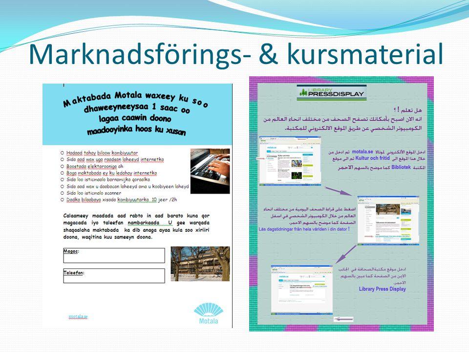 Marknadsförings- & kursmaterial