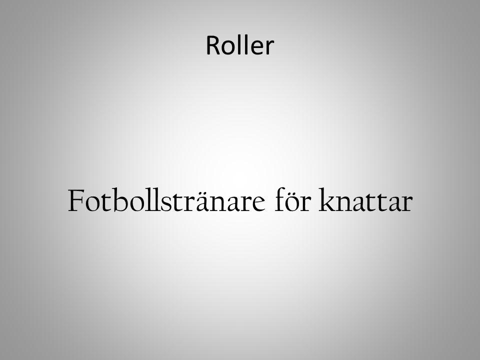 Roller Fotbollstränare för knattar