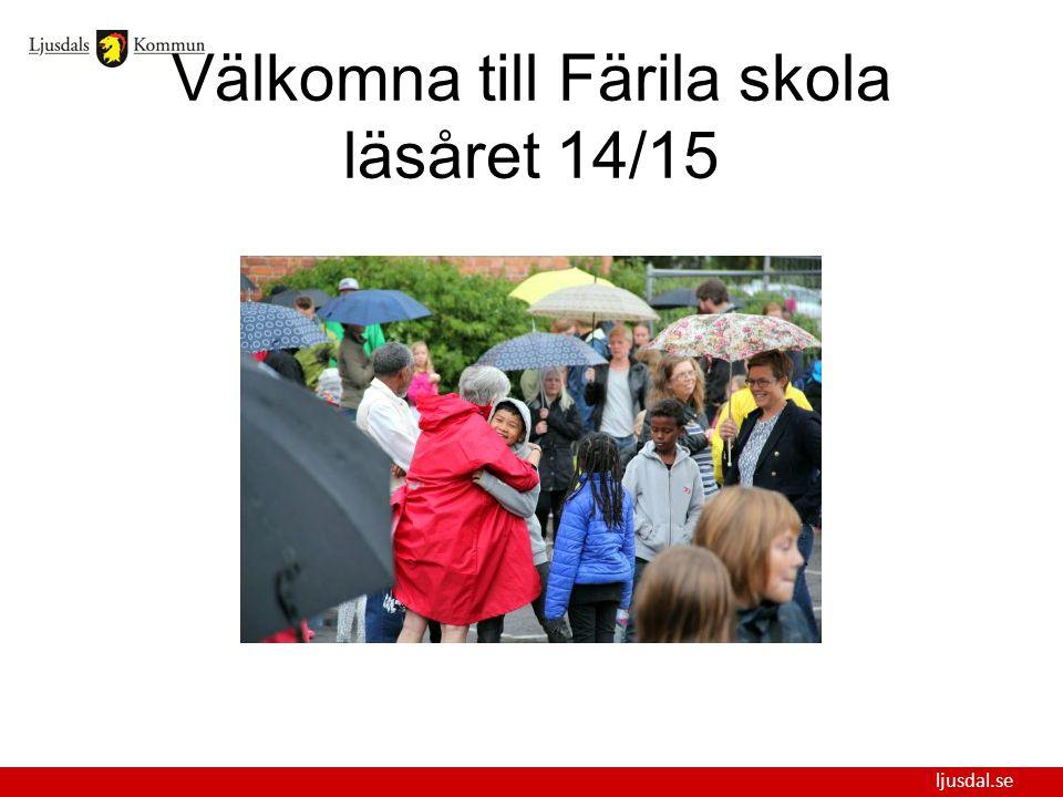 ljusdal.se Välkomna till Färila skola läsåret 14/15