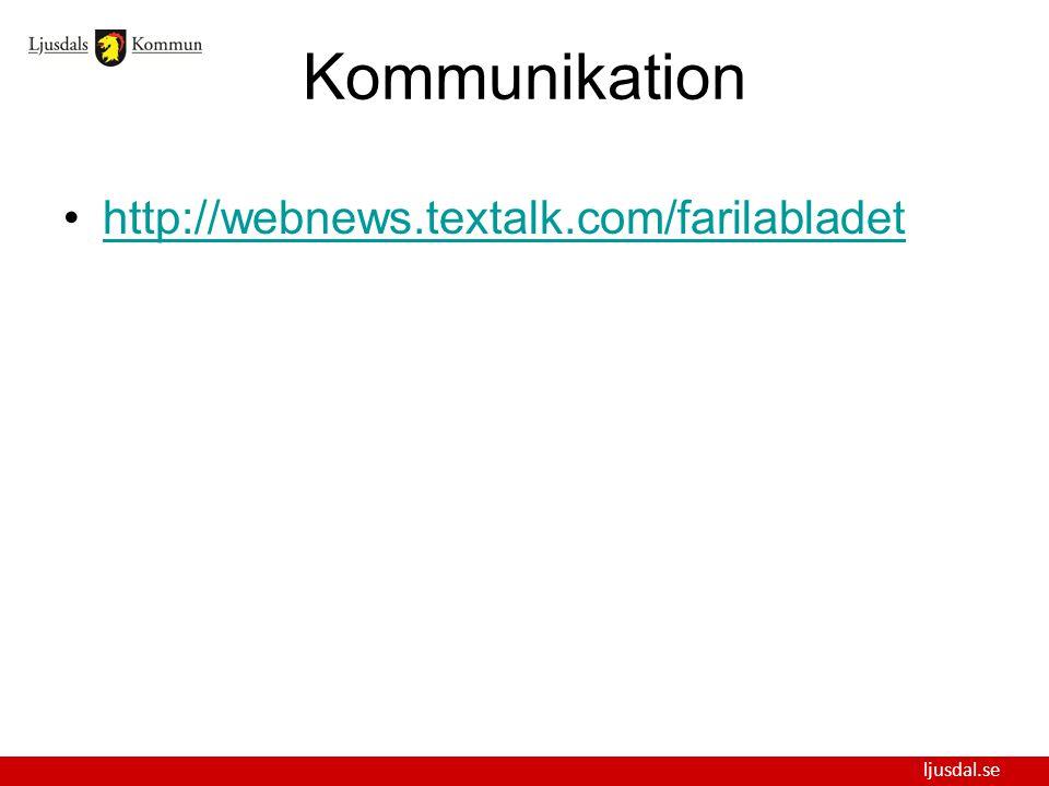 ljusdal.se Kommunikation http://webnews.textalk.com/farilabladet