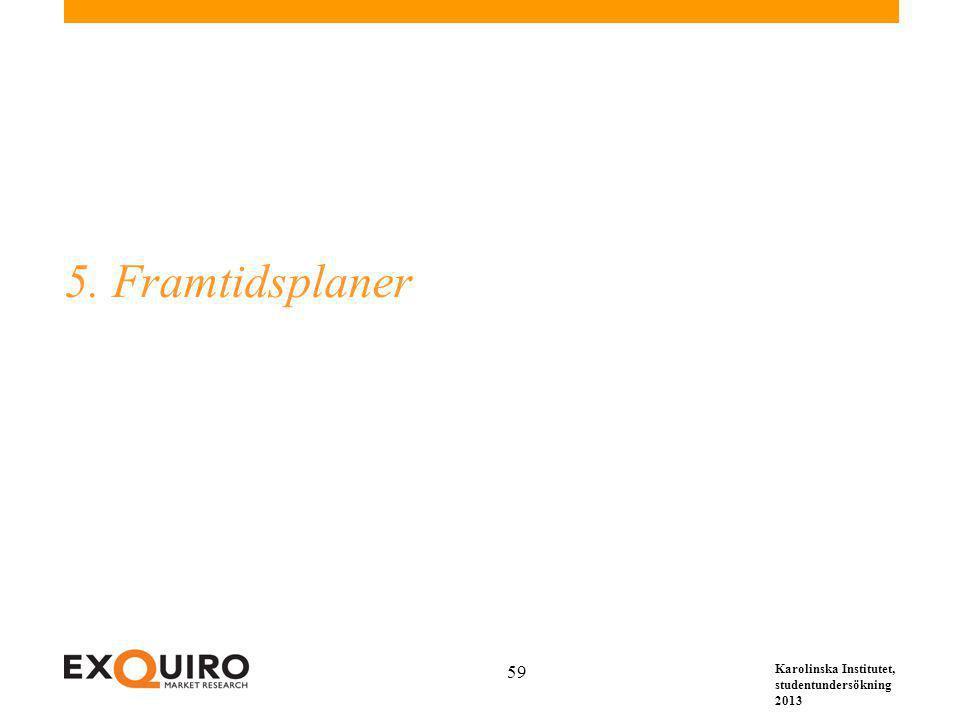 Karolinska Institutet, studentundersökning 2013 59 5. Framtidsplaner