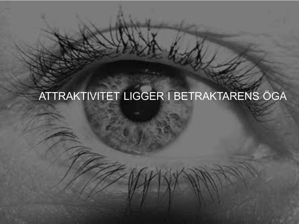 SWEDISH AGENCY FOR ECONOMIC AND REGIONAL GROWTH 5 ATTRAKTIVITET LIGGER I BETRAKTARENS ÖGA