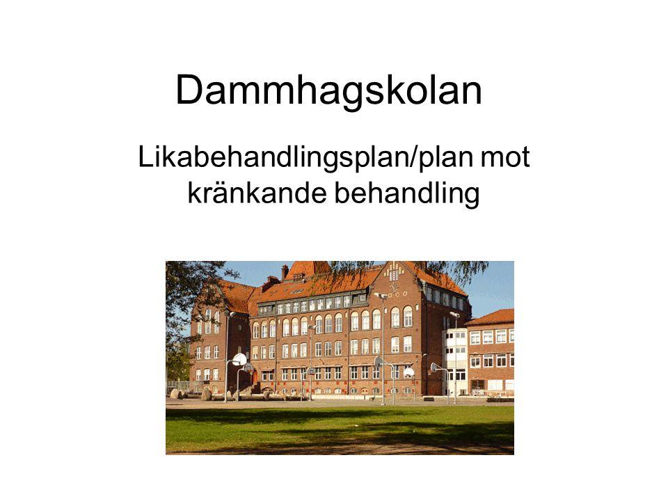 Dammhagskolan Likabehandlingsplan/plan mot kränkande behandling