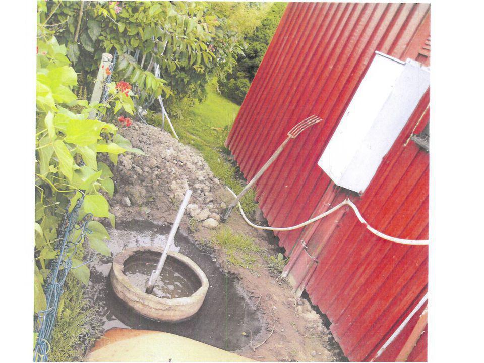 Ca 3 ansökningar om vattentoalett per år -1000 enskilda avlopp 1 anmälan om otillåten avloppslösning -Får inte installera utan tillstånd från miljönämnden -Miljösanktionsavgift -Eventuellt föreläggande om utsläppsförbud.