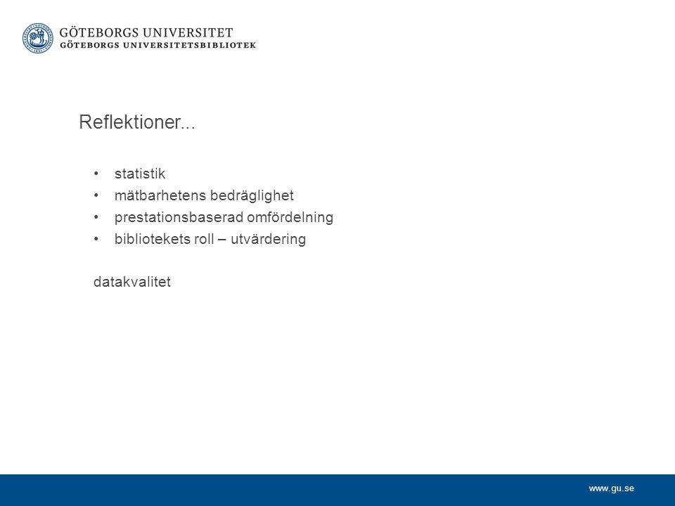 www.gu.se Reflektioner...