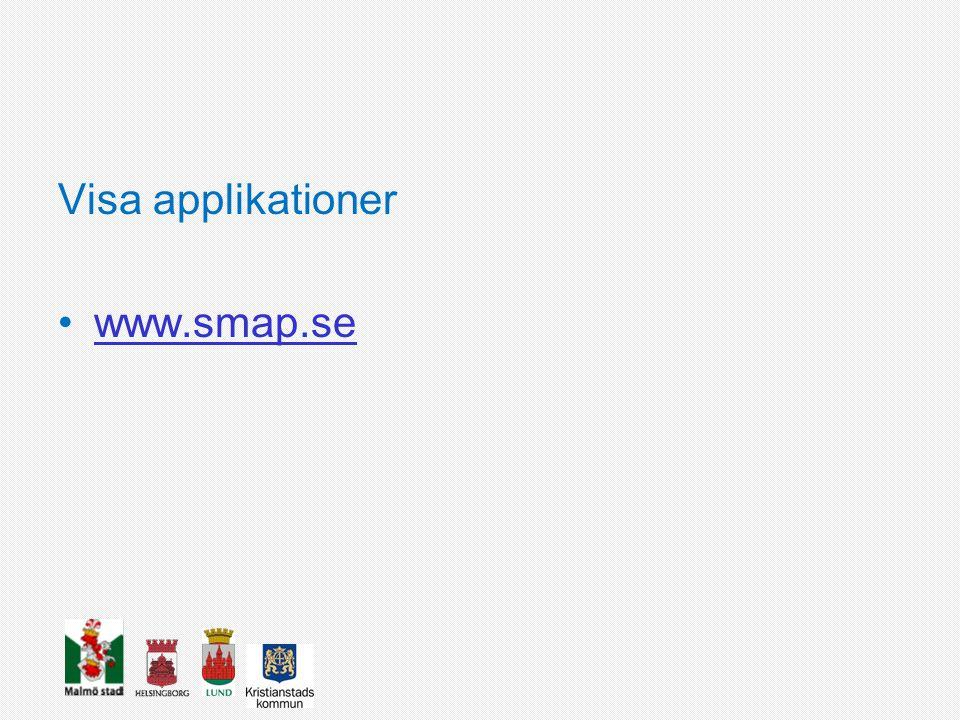 Visa applikationer www.smap.se