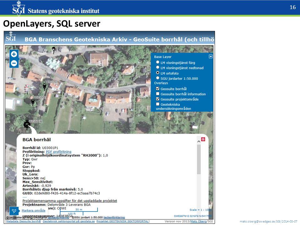 mats.oberg@swedgeo.se/SGI/2014-03-07 16 OpenLayers, SQL server