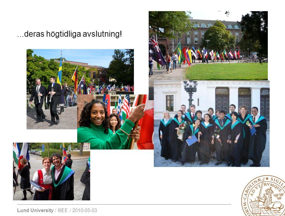 Lund University / IIIEE / 2010-05-03 Alumninätverket är självständigt gentemot institutet, men vi ser till att hålla kontakten genom att...
