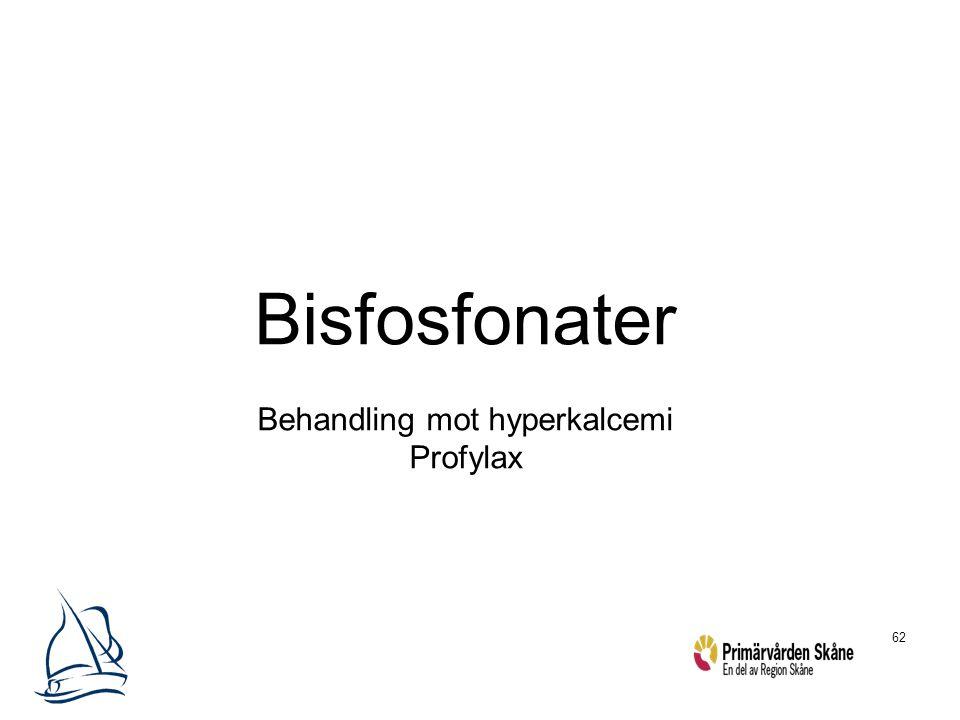 62 Bisfosfonater Behandling mot hyperkalcemi Profylax