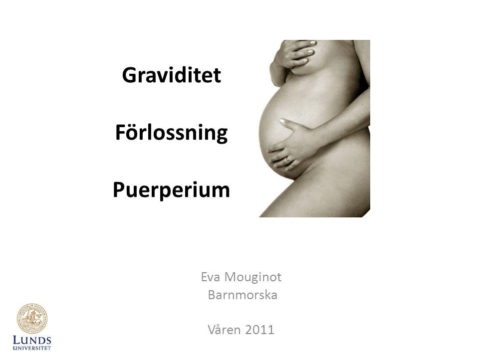 De 10 nationella besöken samt ultraljudsscreening Gr v 8-10: Inskrivning och Hälsosamtal Gr v 19: Ultraljudsscreening 1 (antal foster, tidsbestämning, fosteranatomi, placentalokalisation mm) Gr v 24 Gr v 28/29 (inkl.
