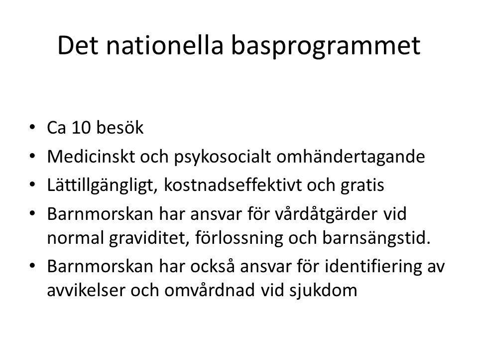 Det gemensamma uppdraget för svenska barnmorskeförbundet och SFOG Att främja hälsa hos kvinnan och hennes barn och möta hela familjens behov utifrån vetenskap och beprövad erfarenhet Arbetet ska utgå ifrån ett etiskt, holistiskt och hälsobefrämjande arbetssätt Vården ska genoföras i samråd med patienten