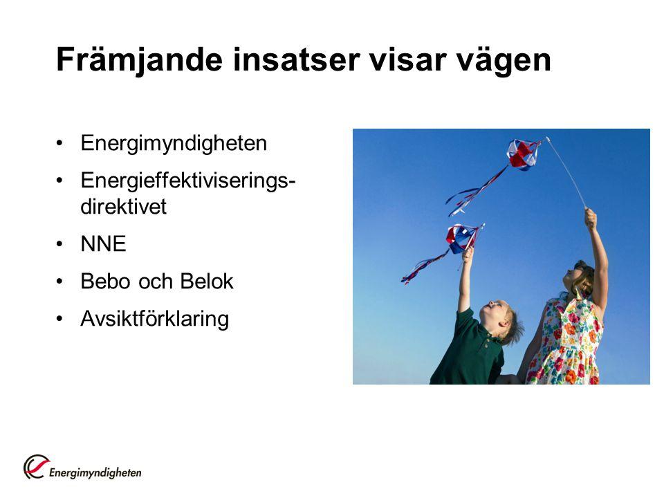 Energimyndigheten Energieffektiviserings- direktivet NNE Bebo och Belok Avsiktförklaring Främjande insatser visar vägen