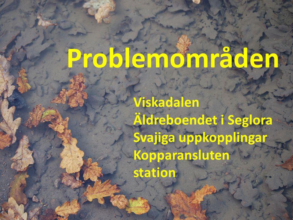 Problemområden Viskadalen Äldreboendet i Seglora Svajiga uppkopplingar Kopparansluten station
