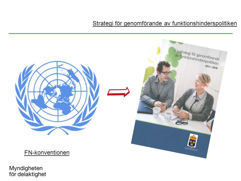 FN-konventionen Strategi för genomförande av funktionshinderspolitiken