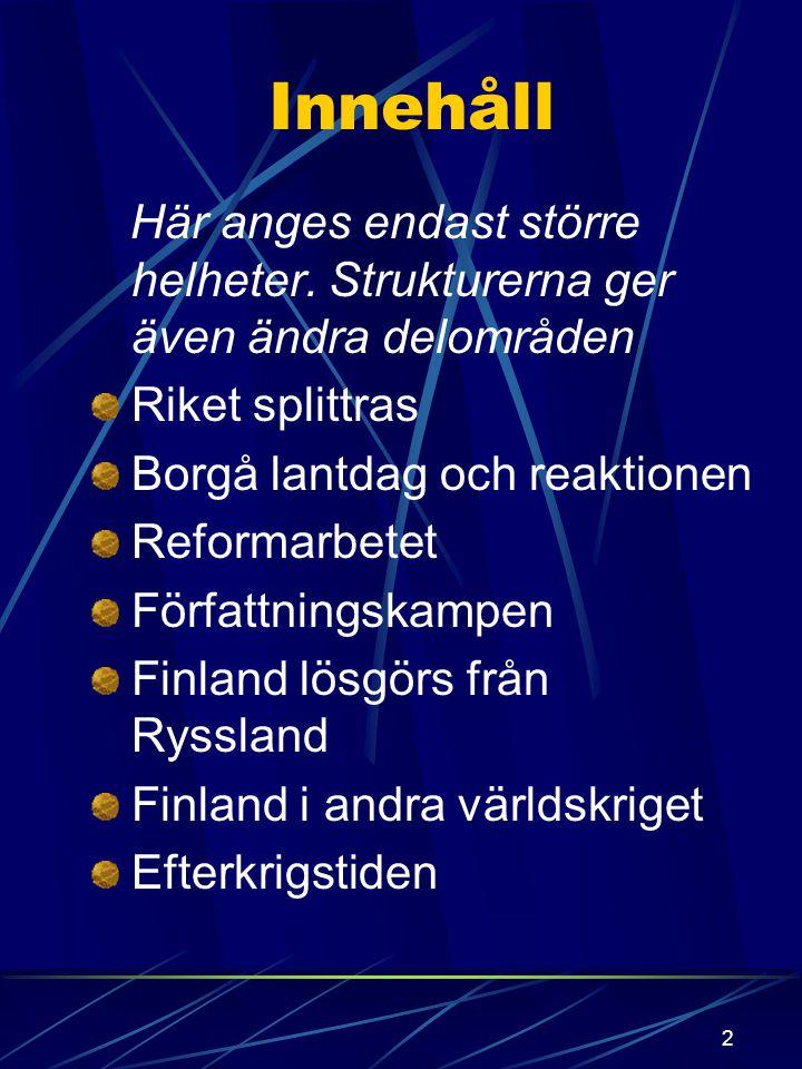1 Finland efter 1809 Historia kurs 4