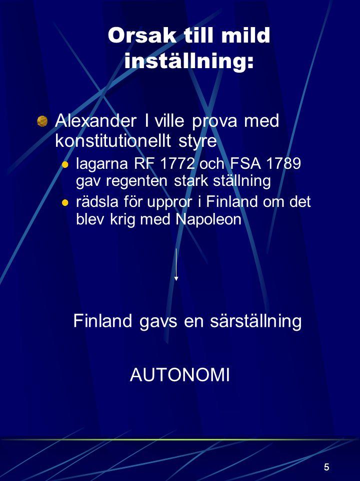 4 åldrande armé, gammal taktik Sveaborgs fall utebliven hjälp från Sverige defaitism Freden slöts i Fredrikshamn september 1809 Sverige avträdde : Fin