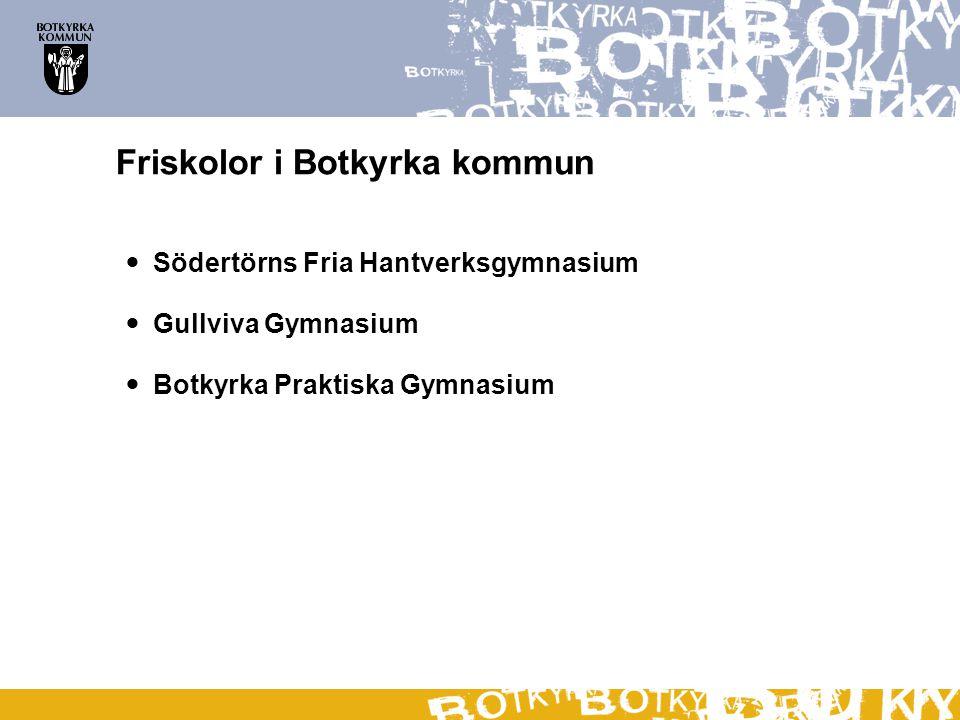 Friskolor i Botkyrka kommun Södertörns Fria Hantverksgymnasium Gullviva Gymnasium Botkyrka Praktiska Gymnasium
