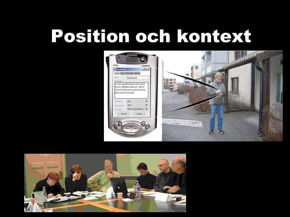 Position och kontext