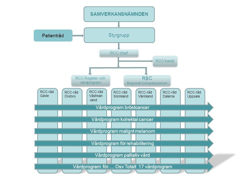 RCC projektgrupp Dalarna Vårdprogramgrupp bröstcancer Vårdprogram palliativ vård Vårdprogram kolrektal cancer Vårdprogram malignt melanom Vårdprogram