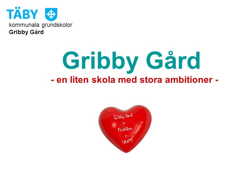 kommunala grundskolor Gribby Gård + Föräldrar = SANT! Gribby Gård - en liten skola med stora ambitioner -