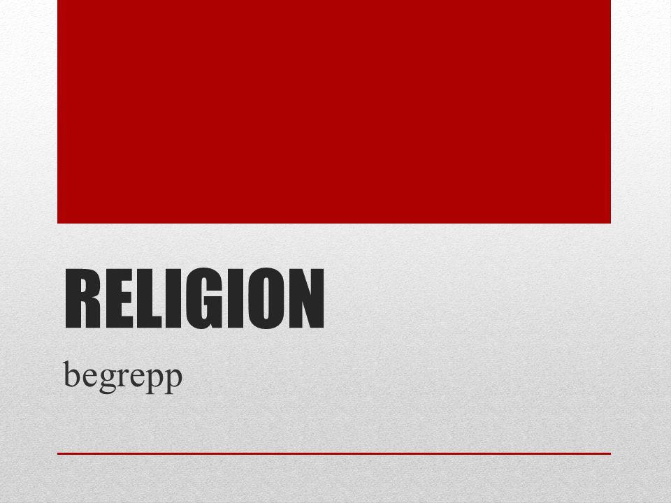 RELIGION begrepp