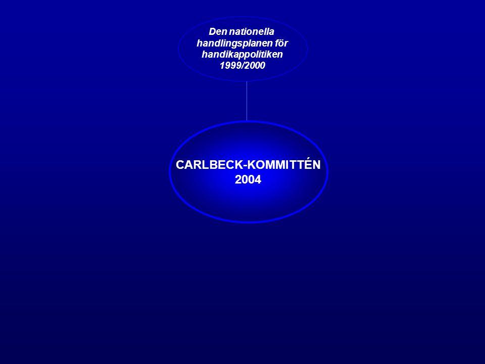 CARLBECK-KOMMITTÉN 2004 Den nationella handlingsplanen för handikappolitiken 1999/2000