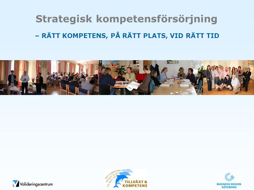 Strategisk kompetensförsörjning – RÄTT KOMPETENS, PÅ RÄTT PLATS, VID RÄTT TID