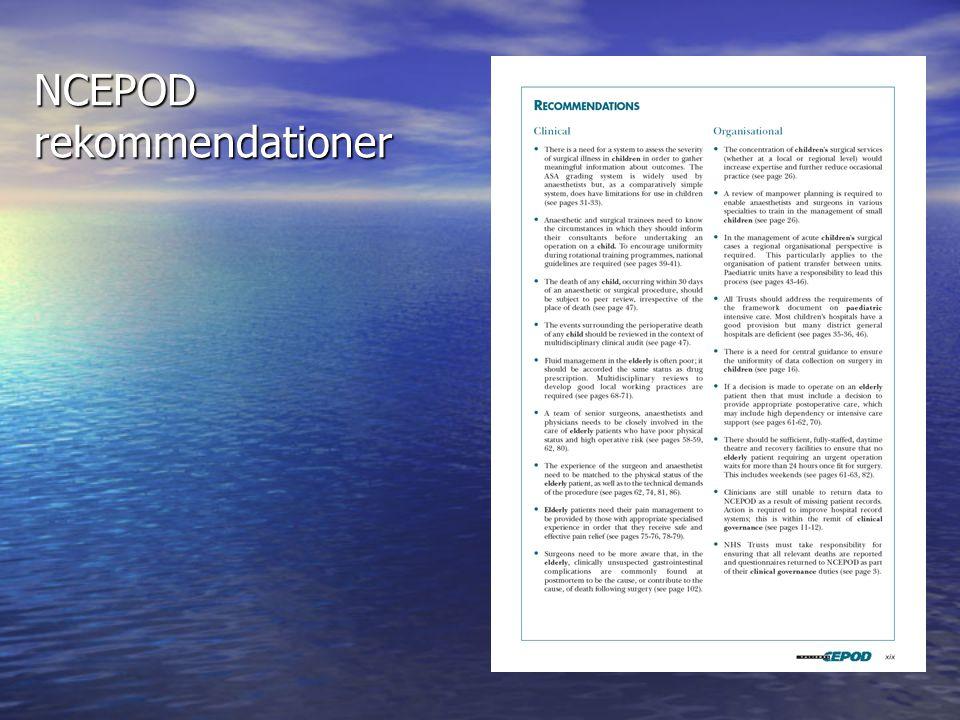 NCEPOD rekommendationer