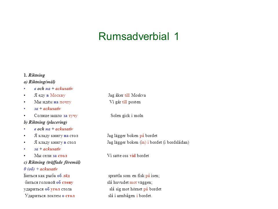 Rumsadverbial 2 2.
