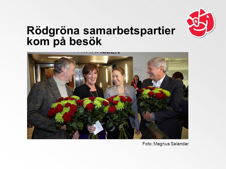 Rödgröna samarbetspartier kom på besök Foto: Magnus Selander