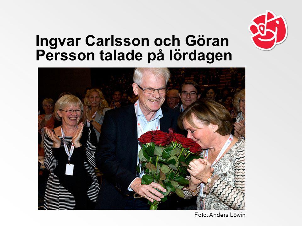 Ingvar Carlsson och Göran Persson talade på lördagen Foto: Anders Löwin