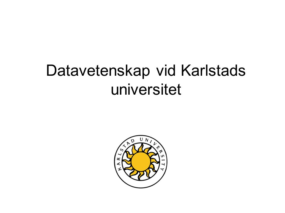 Datavetenskap vid Karlstads universitet
