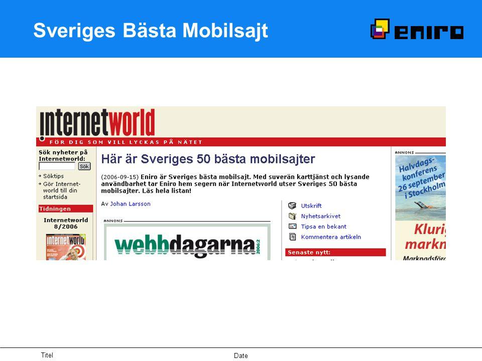 Titel Date Sveriges Bästa Mobilsajt