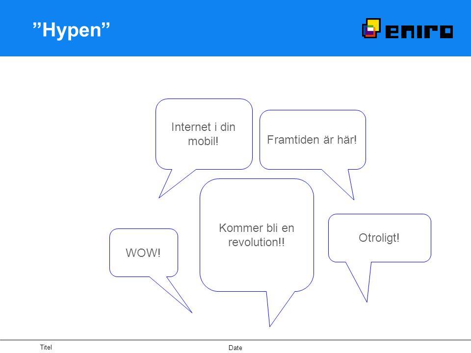 Titel Date Hypen Internet i din mobil. Framtiden är här.