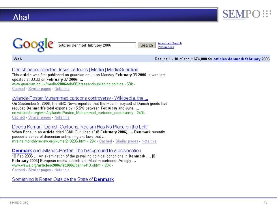 19sempo.org Aha!