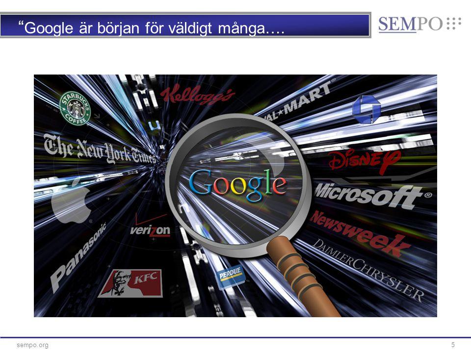 16sempo.org 16 Mobilt sök – växer äntligen… ■Efter några års väntan och skriverier så växer det äntligen på riktigt…