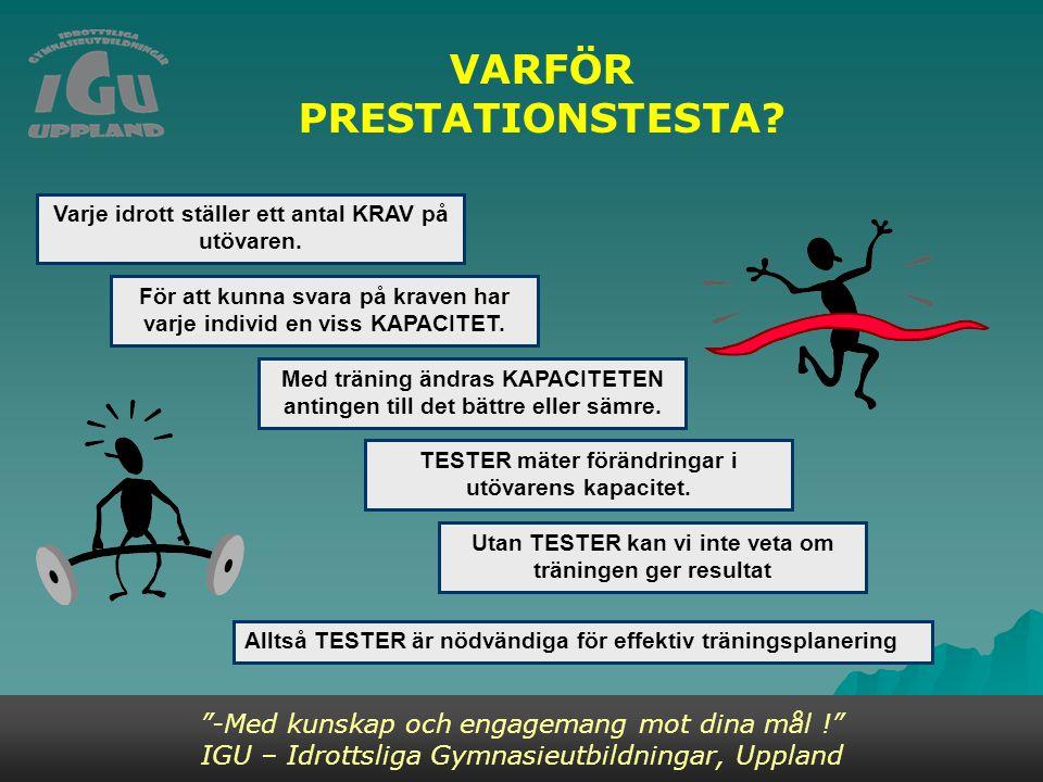 VARFÖR PRESTATIONSTESTA.