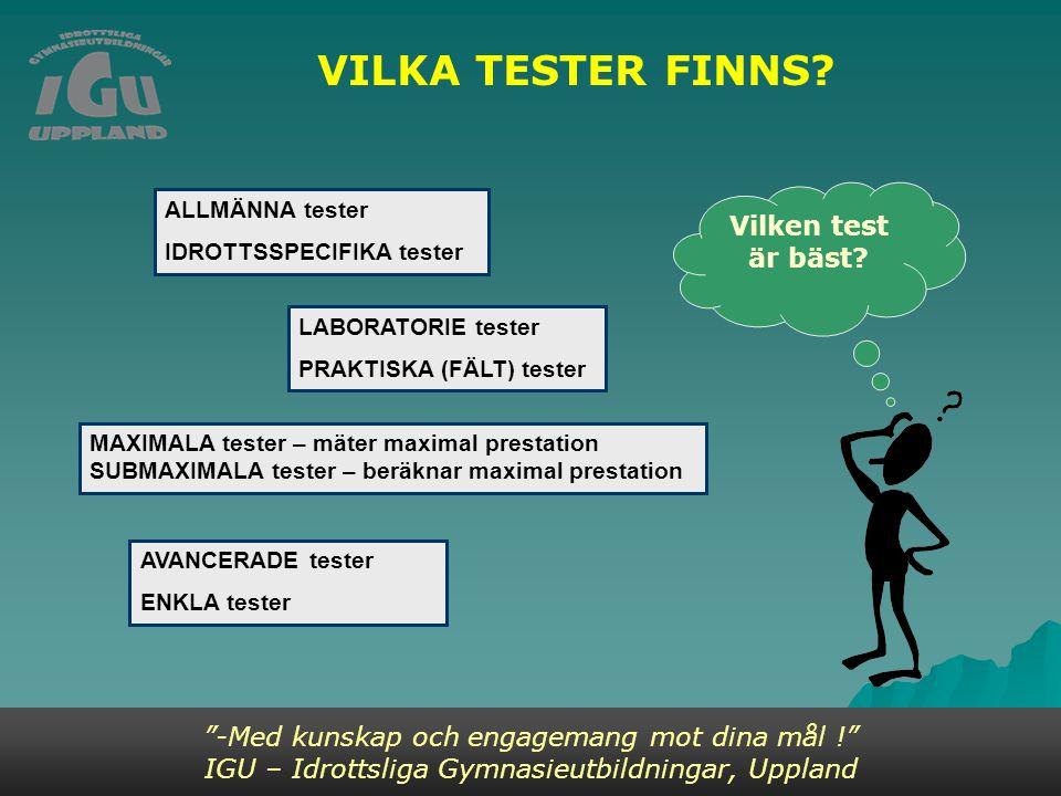 VILKA TESTER FINNS.