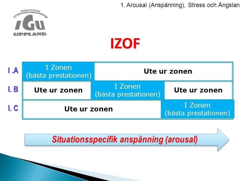 IZOF I Zonen (bästa prestationen) Ute ur zonen Ute ur zonen I Zonen (bästa prestationen) Ute ur zonen Ute ur zonen I Zonen (bästa prestationen) I.A I.