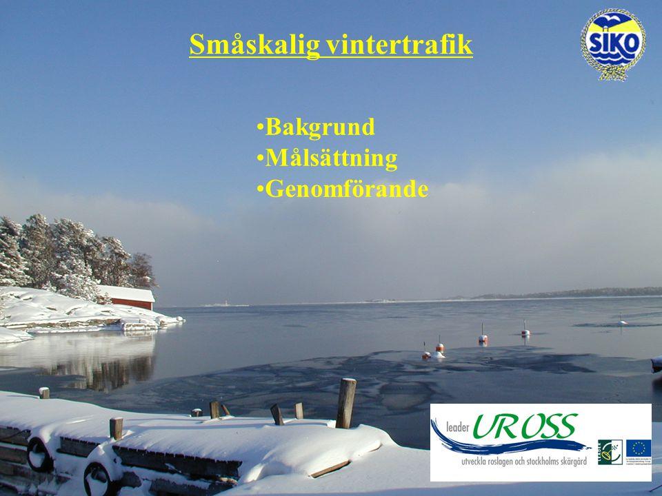 Småskalig vintertrafik Bakgrund Målsättning Genomförande