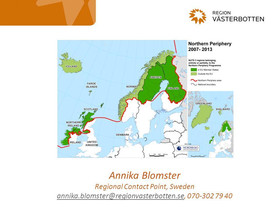 Svenska regionala inspel till kommande NPP 2014-2020 -I processen har följande deltagit: -Regional Advisory Group (8 personer, tjänstemän och politiker, från de fyra nordliga länen) -Tjänstemän Europaforum (1-2 per personer per län) -Regional Contact Point (Region Västerbotten) -National Contact Point (Näringsdepartementet) -Inspelen bygger i stor utsträckning på de diskussioner som fördes under hösten 2012 kring tematiska prioriteringar i transnationella program, vilket inlämnades till TVV.