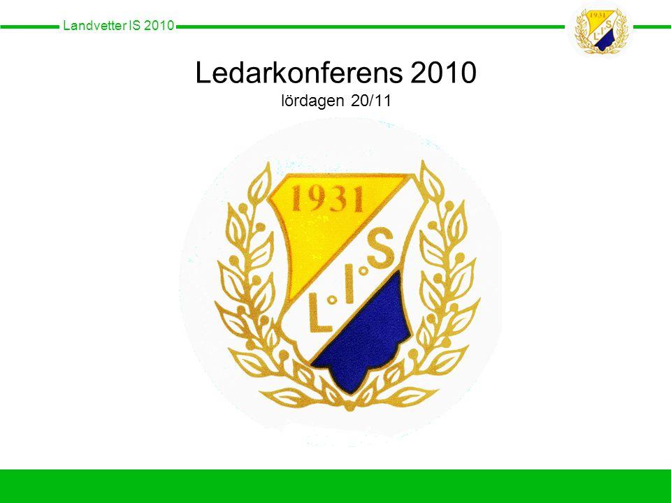 Landvetter IS 2010 Ledarkonferens 2010 lördagen 20/11