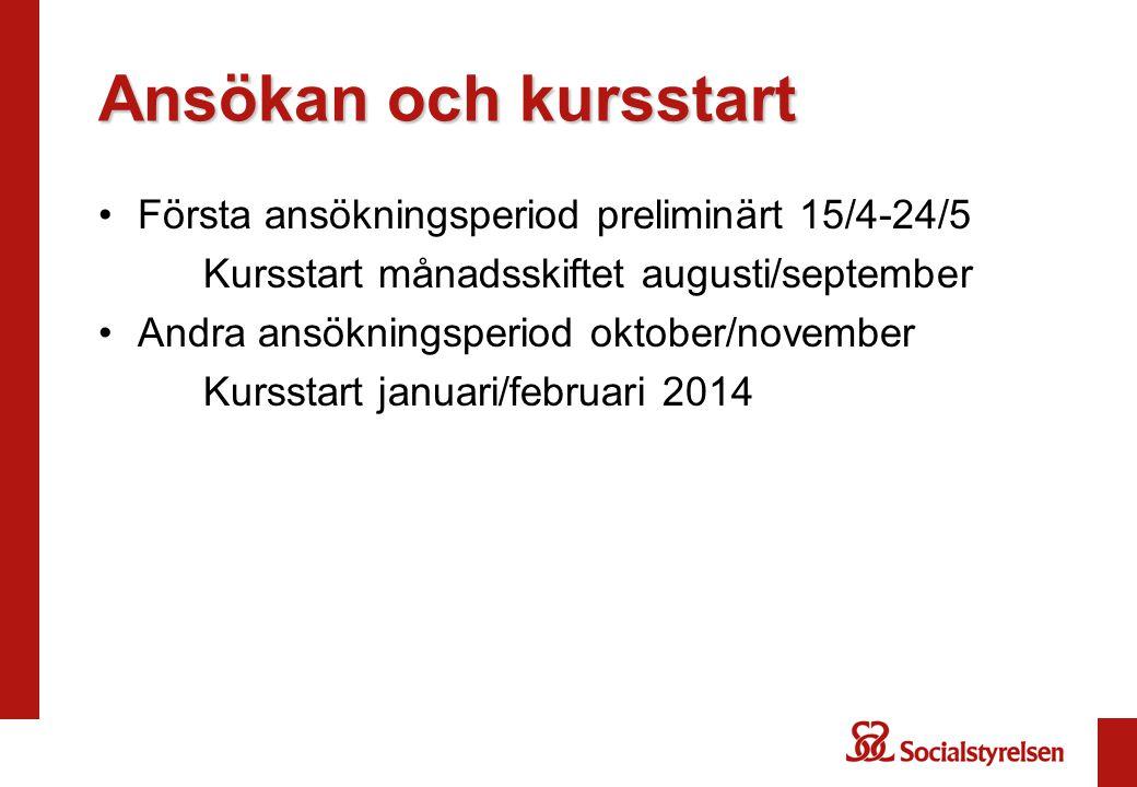 Frågor om utbildningen.Annika Jalap Hermanson annika.jalap-hermanson@socialstyrelsen.se Tel.