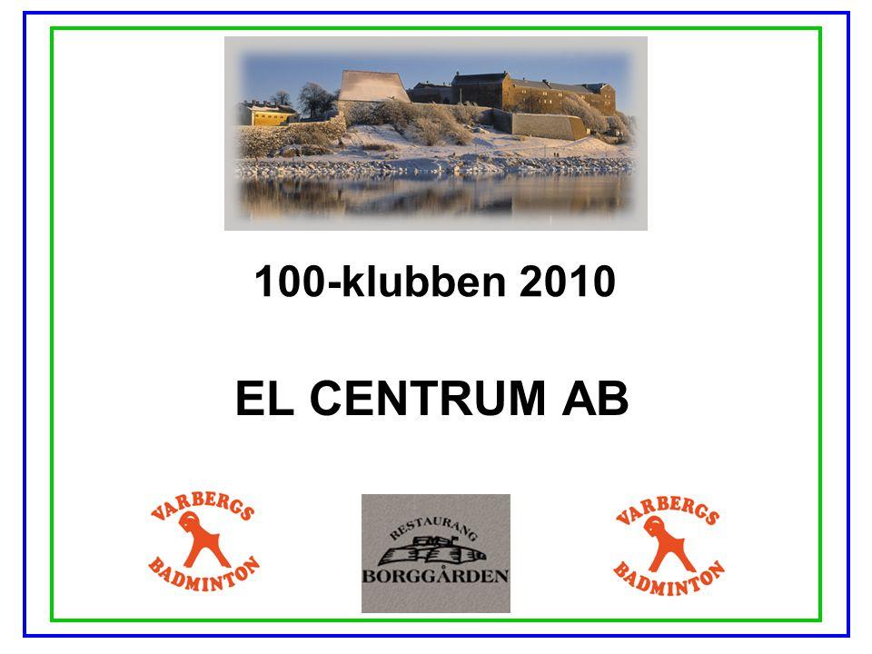100-klubben 2010 EL CENTRUM AB