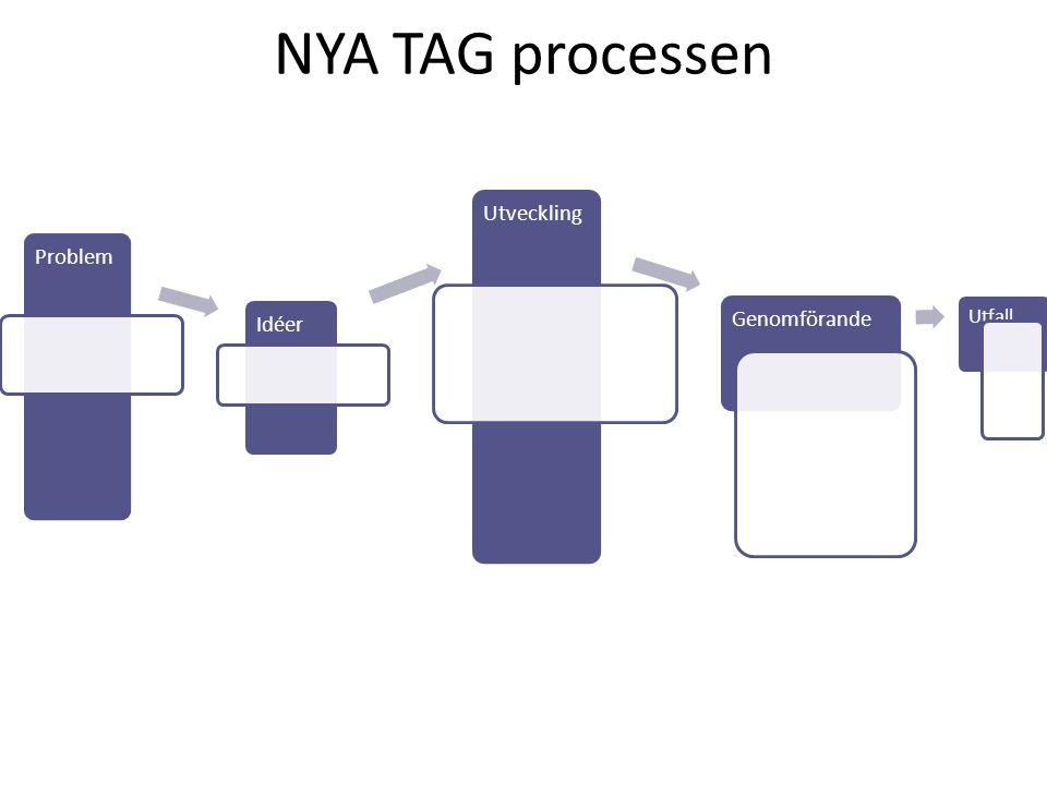 NYA TAG processen Problem Idéer Utveckling Genomförande Utfall ?